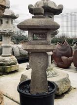 Oribe Gata Ishidōrō, Japanese Stone Lantern - YO01010192 - $2,751.58