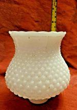 "Vintage 5-1/4"" Deep White Milk Glass Hobnail Lamp Shade Globe 1-5/8'' Fitter  image 4"