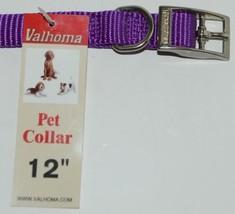 Valhoma 720 12 PR Dog Collar Purple Single Layer Nylon 12 inches Package 1 image 2