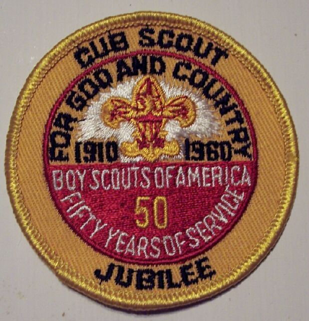 Boy Scout National Cub Scout Jubilee BSA Patch 1960