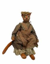 "Vintage Michael Berger Figure Figurine Art Sculpture Orange Cat Doll 21"" image 3"