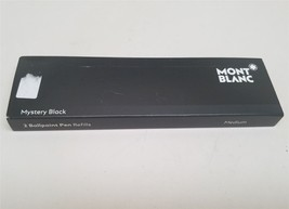 "Montblanc 2 Ballpoint Pen Refill Medium Mystery Black 116190 ""Open box"" - $12.86"