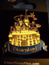 Sleeping Beauty Castle - Golden with Jewels  Disney Collector Pin - $15.99