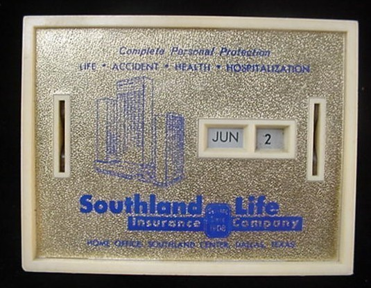 Vintage Southland Life Insurance Co Dallas Tx Coin Bank