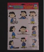 Peanuts Lucy sticker sheet by Kalan - new in pkg - $3.00