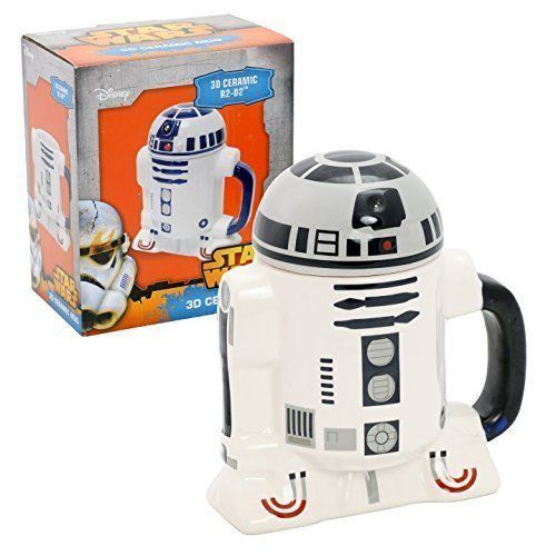 Star Wars Mug - R2-D2 3D Ceramic Coffee and Drink Mug with Removable Lid - 8 oz