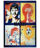 """The Beatles Four Faces Psychedelic Poster 24"""" x 36"""" john lennon - $22.00"""