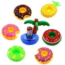 Drink Floats Swimming Drink Holder Inflatable Pool Party Hot Tubs Lakes ... - £12.85 GBP