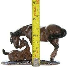 Hagen Renaker Specialty Horse Mustang Mare with Colt Ceramic Figurine image 2
