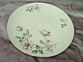 "2 Vintage Knowles China Princess Rose Dinner Plate 10 1/4"" Pink Flowers Cream - $19.75"