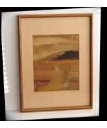 "Hawaiian Art Framed ""Painting Made from Banana ... - $20.00"