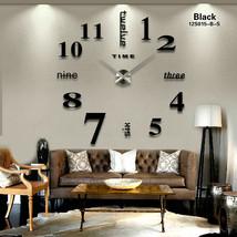 Large Wall Clock Big Watch Decal 3D Stickers Roman Numerals DIY Wall Mod... - $23.74