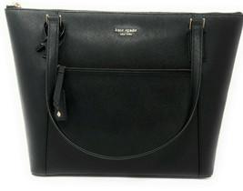 Kate Spade Cameron Large Pocket Tote Black Saffiano Leather WKRU6730 $399 - $149.99