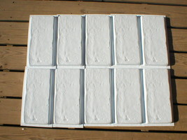 "15 Concrete Brick Paver Molds to Make 100s of #1151 6""x12"" Wall & Floor Tiles   image 2"