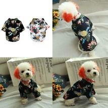Pet Puppy Summer Hawaiian Style Shirt Dog Cat Pet Kitten Clothes Vest T ... - $6.99