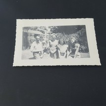 Vintage Photo Young Women With Family Kids Outdoors - $2.48