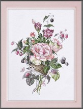 Cross Stitch Hand Embroidery Kit Flowers Snapping - $22.46