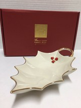 Lenox Holly Leaf Candy Dish New In Box - $9.95