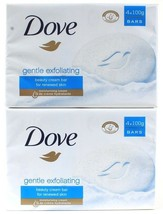 2 Dove Gentle Exfoliating Beauty Cream Bar Renewed Skin Moisturizing 4 Bars - $22.99
