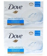 2 Dove Gentle Exfoliating Beauty Cream Bar Renewed Skin Moisturizing 4 Bars - $22.99