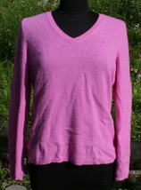 Ann Taylor Cashmere V-Neck Sweater Sz L Pink Womens - $32.98