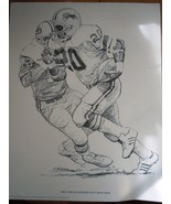 Shell Oil Company Promotion Pencil Drawing Billy Sims Detroit Lions 1981 - $4.99