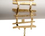 Celebrity Designer Karine Sultan Hollywood Glam Matte Gold Edgy Spike Bracelet - $45.68