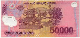 Vietnam 50000 50K Dong Polymer Note UNC. Vietnamese Bank Note for Collec... - $9.89
