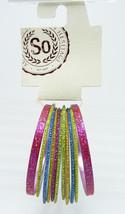 Colorful New Glittery 11 Piece Bangle Bracelet Set nwt #B1195 - $5.44