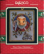 1990 New in Box - Enesco Christmas Ornament - First Class Christmas - #830038 - $5.44