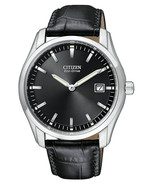 New Citizen Eco Drive Men's Stainless Steel Leather Strap Watch AU1040-08E - £108.55 GBP