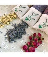 Natural Rose Jasmine Lavender Bud Dried Flower Bag Aromatherapy Air Refr... - $12.00+