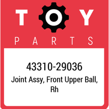 43310-29036 Toyota Ball Joint Upper, New Genuine OEM Part - $53.46