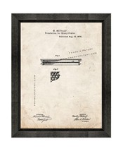 Foundations For Honey Combs Patent Print Old Look with Beveled Wood Frame - $24.95+