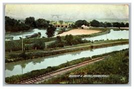 Coshocton, OH Ohio,  Aqueduct & Basins Postcard Posted 1908 - $7.56