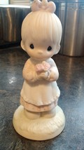 Precious Moments  MOMMY I LOVE YOU  Girl with Flowers #112143  1987 - $12.99