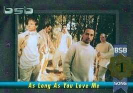 Backstreet Boys trading card (#1 Album/Song As Long As You Love Me) 2000... - $4.00