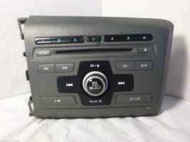 2012 12 Honda Civic Radio Cd Player 39100-TR0-A315 2BC6 rA0179 - $20.79