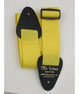 """Effin Guitars 2"""" Wide Yellow Nylon Guitar Strap W/Leather Ends #NWS20G-Y... - $4.95"""