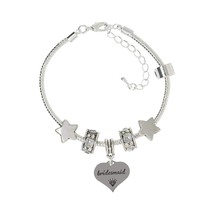 Truly Charming Bridesmaid Charm Bracelet Pandora Style Gift Boxed - $31.99