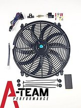 "A-Team Performance 140041 16"" Heavy Duty 12V Radiator Electric Wide Curved S Bla"