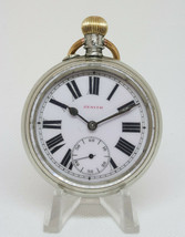Zenith аward Serbian Railways Pocket Watch decorated with steam train 15... - $513.10