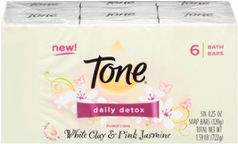 Tone Daily Detox White Clay and Pink Jasmine with Vitamin E,6 Count discontinued - $84.00