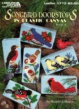 Songbird Doorstops in Plastic Canvas Book 4 Cardinal Robin Bluebird Orio... - $7.50