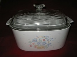 Corning Ware Country Cornflower Dutch Oven Casserole w Lid A 5 B 5 liter... - $36.62