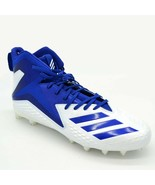 Adidas Mens Freak High Top Football Cleats Sz 14 White And Blue New - $59.39