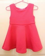 Kate Spade Girls 18 M Textured VIVIAN Sleeveless Pink Bow Back Flare Dre... - $31.65