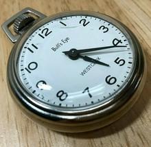 Vintage Westclox USA Bull's Eye Mens Hand-Winding Mechanical Pocket Watch Hours - $25.64