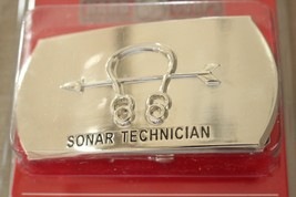 Usn Us Navy Uss Ship Shore Air Sonar Technician Rate Specialty Belt Buckle - $24.70