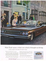 Vintage 1960 Magazine Ad Pontiac Wide Track Opens Whole New School Of Thought - $5.93